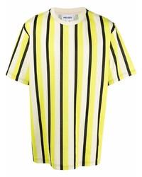 gelbes vertikal gestreiftes T-Shirt mit einem Rundhalsausschnitt von Kenzo