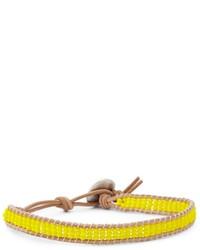 gelbes verziert mit Perlen Armband