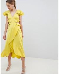fda6d1e600e9 Modische gelbes Kleid mit Rüschen für Damen bei Asos für Herbst 2018 ...