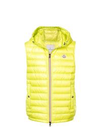 gelbgrüne ärmellose Jacke