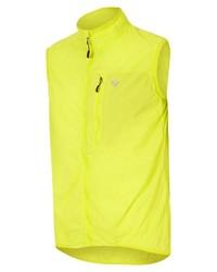 gelbgrüne ärmellose Jacke von Ziener