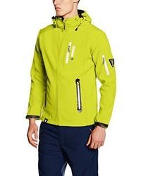 gelbgrüne bedruckte Jacke von Geographical Norway
