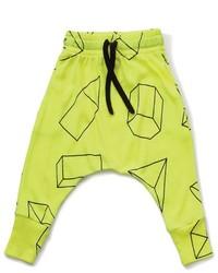 gelbgrüne Jogginghose