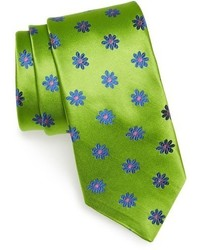 gelbgrüne Krawatte