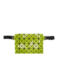 gelbgrüne Leder Bauchtasche