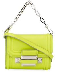 gelbgrüne Leder Umhängetasche von Versace