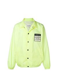 gelbgrüne Shirtjacke von Maison Margiela