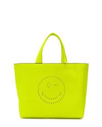 gelbgrüne Shopper Tasche aus Leder von Anya Hindmarch