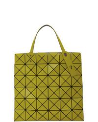 gelbgrüne Shopper Tasche aus Leder von Bao Bao Issey Miyake