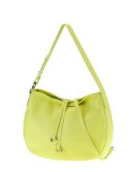 gelbgrüne Shopper Tasche aus Leder von COLLEZIONE ALESSANDRO