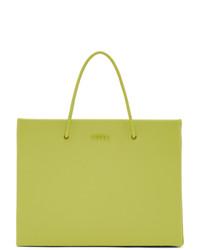 gelbgrüne Shopper Tasche aus Leder von Medea