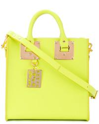 gelbgrüne Shopper Tasche aus Leder von Sophie Hulme