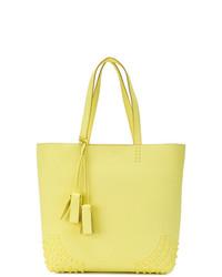 gelbgrüne Shopper Tasche aus Leder von Tod's