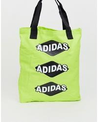 gelbgrüne Shopper Tasche von adidas Originals
