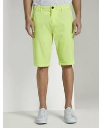 gelbgrüne Shorts von Tom Tailor