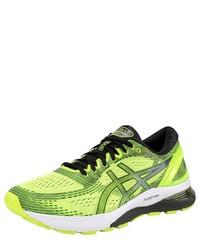 gelbgrüne Sportschuhe von Asics