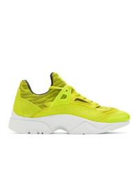 gelbgrüne Sportschuhe von Kenzo