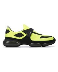 gelbgrüne Sportschuhe von Prada