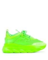 gelbgrüne Sportschuhe von Versace