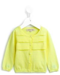 gelbgrüne Strickjacke