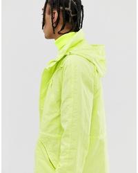 gelbgrüne Windjacke von ASOS DESIGN