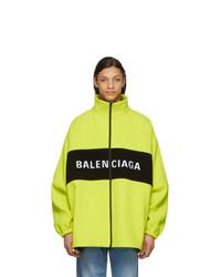 gelbgrüne Windjacke von Balenciaga