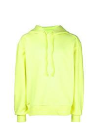 gelbgrüner Pullover mit einem Kapuze