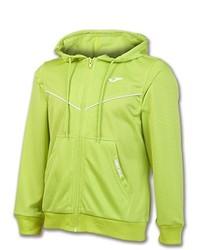 gelbgrüner Pullover mit einem Kapuze von Joma