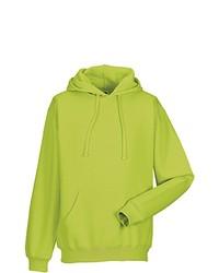 gelbgrüner Pullover mit einem Kapuze von Russell