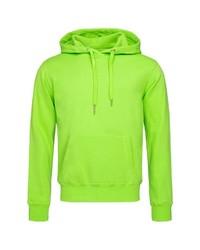 gelbgrüner Pullover mit einem Kapuze von Stedman