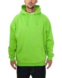 gelbgrüner Pullover mit einem Kapuze von Urban Classics