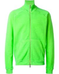 gelbgrüner Pullover mit einem Reißverschluß