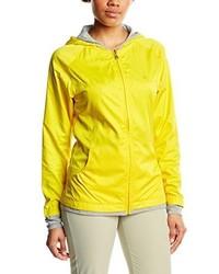 gelbgrüner Pullover mit einer Kapuze von Calvin Klein Golf