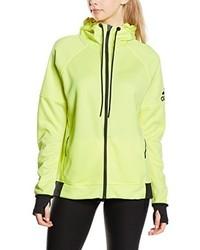 gelbgrüner Pullover mit einer Kapuze von adidas
