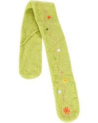 gelbgrüner Schal