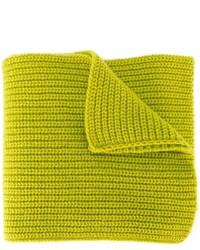 gelbgrüner Strick Wollschal von Stone Island