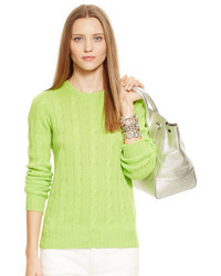 gelbgrüner Strickpullover