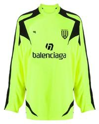 gelbgrünes bedrucktes Langarmshirt von Balenciaga