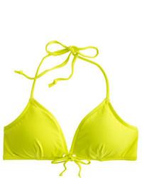 gelbgrünes Bikinioberteil