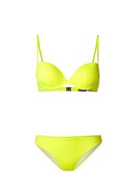gelbgrünes Bikinioberteil von Ea7 Emporio Armani