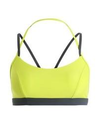 gelbgrünes Bikinioberteil von Speedo