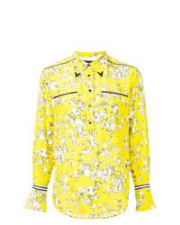 gelbgrünes Businesshemd mit Blumenmuster von Rag & Bone