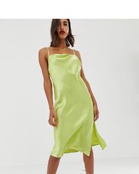 gelbgrünes Camisole-Kleid von ASOS DESIGN