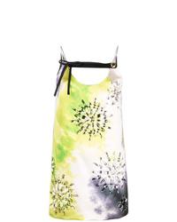 gelbgrünes Mit Batikmuster gerade geschnittenes Kleid von Prada