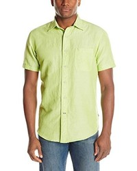 gelbgrünes Kurzarmhemd