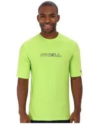 gelbgrünes T-Shirt mit einem Rundhalsausschnitt