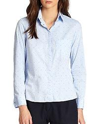 Gepunktete bluse mit knoepfen original 4300541