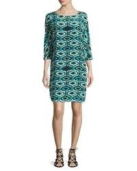 Gerade geschnittenes kleid mit geometrischen mustern original 10090883