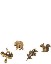 goldene Anstecknadel mit Leopardenmuster von Dsquared2