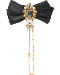 Goldene Anstecknadel von Dolce & Gabbana